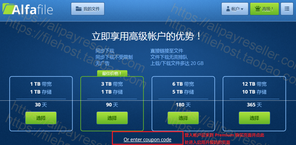 AlfaFile 注冊和高级帐号激活码使用教学